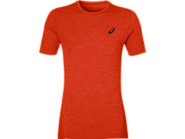 TRAININGTOP MET KORTE MOUWEN VOOR HEREN, Red Clay
