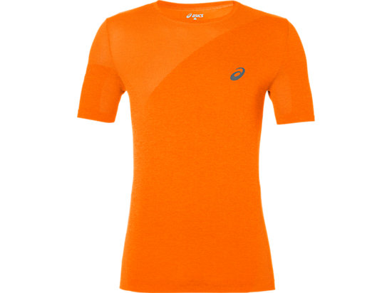 TRAININGTOP MET KORTE MOUWEN VOOR HEREN, Orange Pop Heather