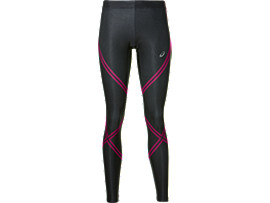 LAUF-TIGHTS STÜTZEND FÜR DAMEN, Performance Black/Prune