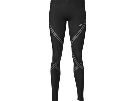 LAUF-TIGHTS STÜTZEND FÜR DAMEN, Performance Black