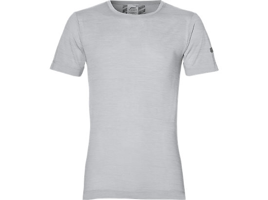 HEATHER SHORT-SLEEVED TOP, Ash Grey Heather