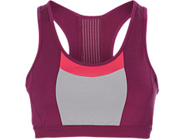 COLOR BLOCK BRA     , Prune