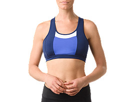 COLOR BLOCK BRA     , Blue Purple