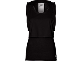 LAYERED TANK TOP, Performance Black