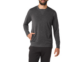 FUZEX-OBERTEIL MIT RUNDHALSAUSSCHNITT, Dark Grey Heather