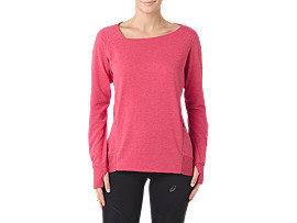 FUZEX CREW TOP, Cosmo Pink Heather