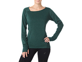 FUZEX CREW TOP, Hampton Green Heather
