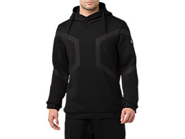 HEXAGON PO HOODIE, PERFORMANCE BLACK