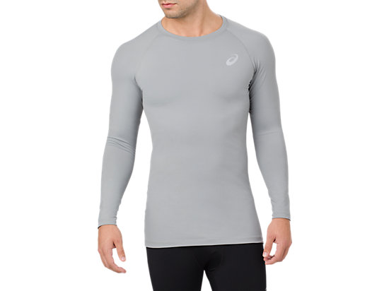 BASELAYER LS TOP, STONE GREY