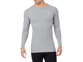 BASELAYER LS TOP     , Stone Grey