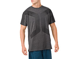 POWER SS TOP, PERFORMANCE BLACK HEATHER
