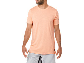 GEL-COOL M SS TOP, APRICOT ICE HEATHER