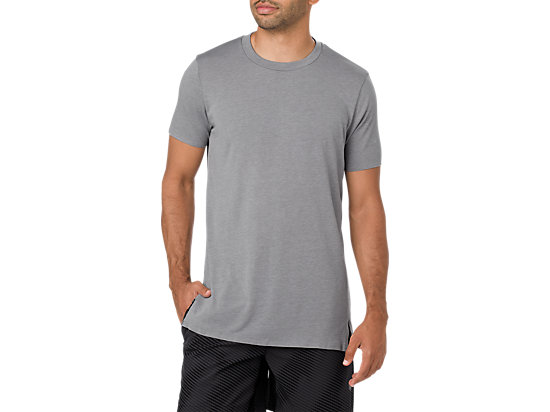 GEL-COOL M SS TOP, CARBON HEATHER
