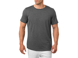SS TOP, PERFORMANCE BLACK HEATHER