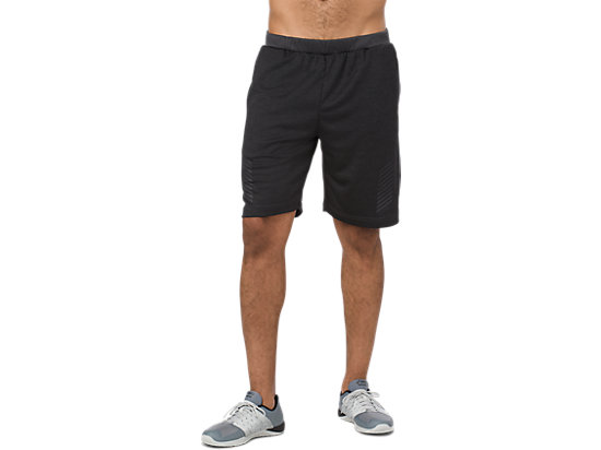 POWER SHORT 10IN, PERFORMANCE BLACK HEATHER