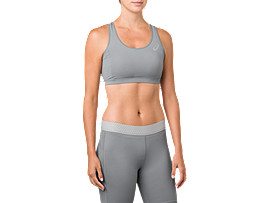 BL MID SUPPORT BRA     , Stone Grey
