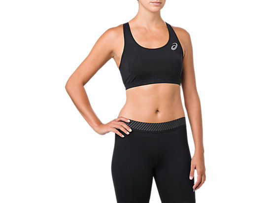 BL MID SUPPORT BRA, PERFORMANCE BLACK