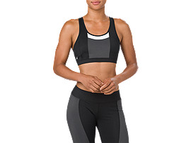 COLOR BLOCK BRA     , Performance Black