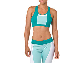 COLOR BLOCK BRA     , Lake Blue