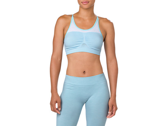 SEAMLESS BRA, PORCELAIN BLUE HEATHER