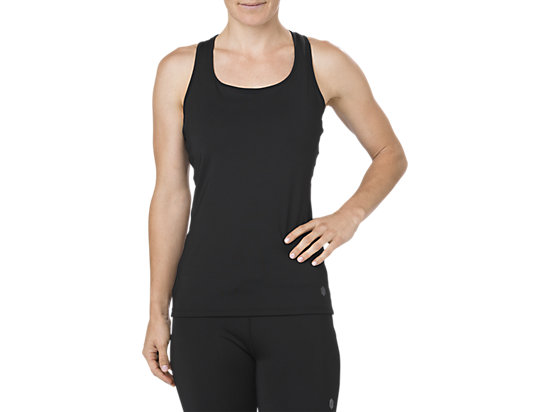 FITTED TANK, Shadow Performance Black