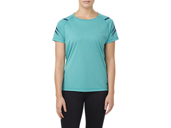 ICON SS TOP, LAKE BLUE HEATHER