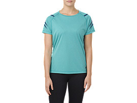 ICON SS TOP     , Lake Blue Heather