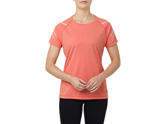 ICON SS TOP, CORALICIOUS HEATHER