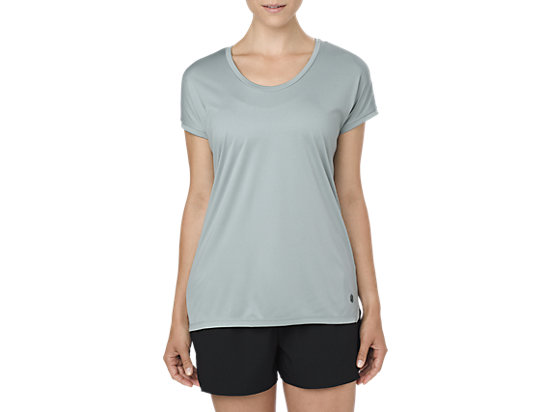 CAPSLEEVE TOP, ABYSS HEATHER