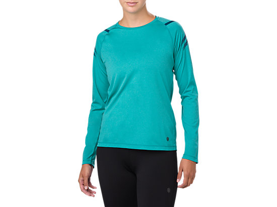 ICON LS TOP, LAKE BLUE HEATHER