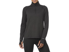 THERMOPOLIS LS 1/2 ZIP  , Performance Black