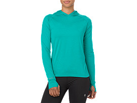 THERMOPOLIS LS HOODIE, Lake Blue Heather
