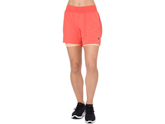 2-N-1 5.5IN SHORT, Coralicious Heather