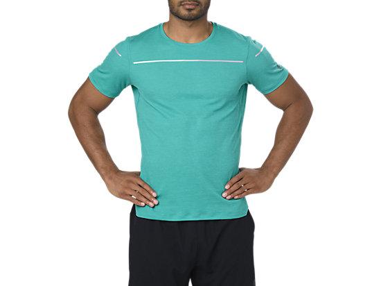 Camiseta de running de manga corta Lite-show para hombre, LAKE BLUE