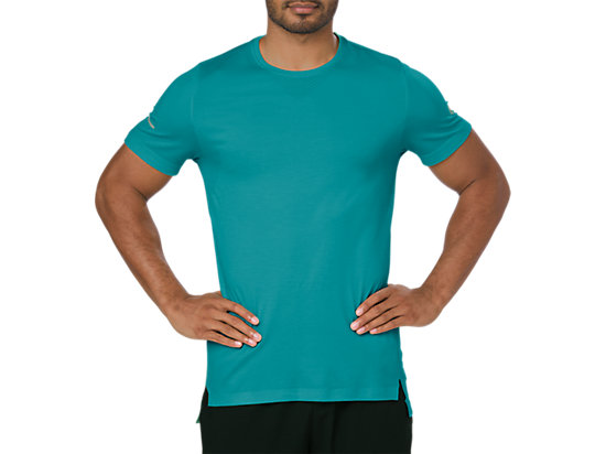 SEAMLESS SS, LAKE BLUE HEATHER