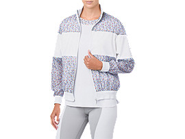LP PRINT WIND JACKET, BRILLIANT WHITE