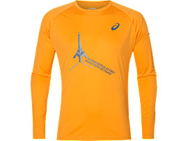 TS TECHNICAL LS TOP, ORANGE POP