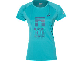 TECHNICAL GRAPHIC T-SHIRT, LAKE BLUE