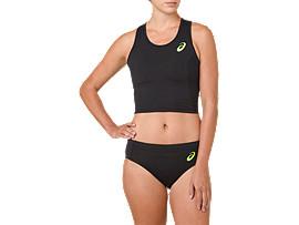 ASICS Bra Performance Black / Hazard Green Mujer Talla L