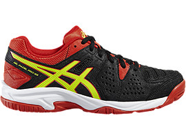 GEL-PADEL PRO 3 GS, Black/Safety Yellow/Vermilion