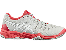 GEL-RESOLUTION 7 GS FÜR KINDER, Glacier Grey/White/Rouge Red