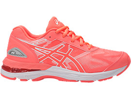 GEL-NIMBUS 19 GS PARA NIÑOS, Flash Coral/White/Flash Coral