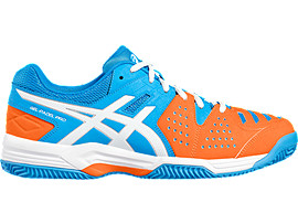 GEL-PADEL PRO 3 SG VOOR HEREN, Diva Blue/White/Shocking Orange