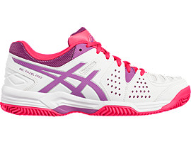 GEL-PADEL PRO 3 SG PARA MUJER, White/Orchid/Diva Pink