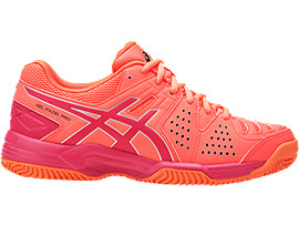 GEL-PADEL PRO 3 SG FÜR DAMEN, Flash Coral/Rouge Red/Silver