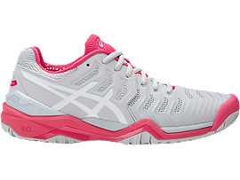 GEL-RESOLUTION 7, Glacier Grey/White/Rouge Red
