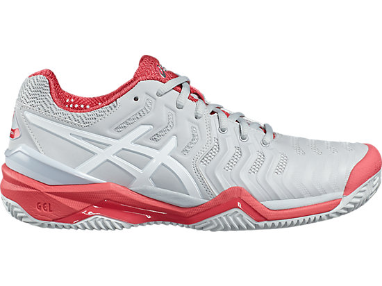 GEL-RESOLUTION 7 CLAY, Glacier Grey/White/Rouge Red