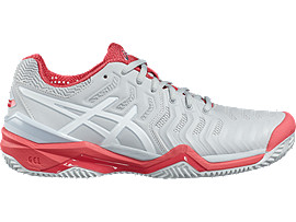 GEL-RESOLUTION 7 PARA MUJER, Glacier Grey/White/Rouge Red