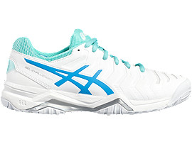 GEL-CHALLENGER 11 VOOR DAMES, White/Diva Blue/Aqua Splash