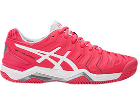 ASICS Gel - Challenger 11 Clay Rouge Red / White / Glacier Grey Mujer